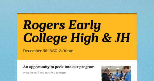 Rogers Early College High & JH