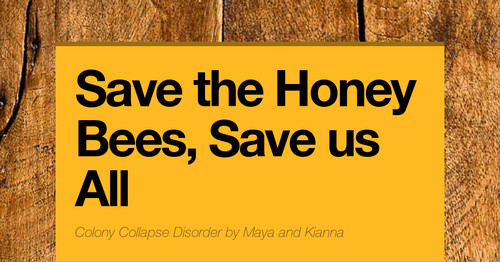 Save the Honey Bees, Save us All