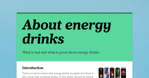 About energy drinks
