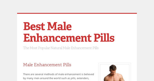 Best Male Enhancement Pills