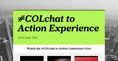 #COLchat to Action