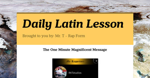 Daily Latin Lesson
