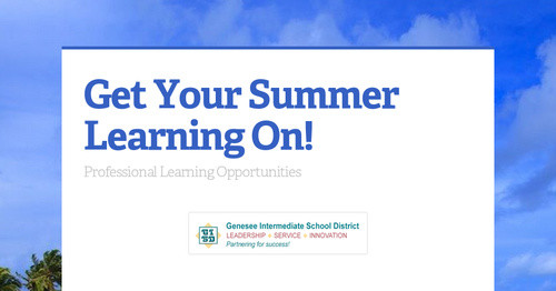 Get Your Summer Learning On!