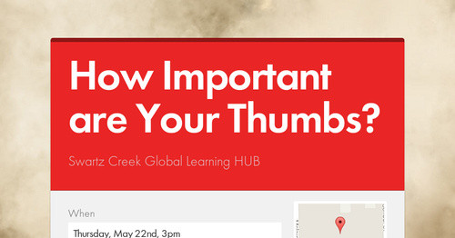 How Important are Your Thumbs?