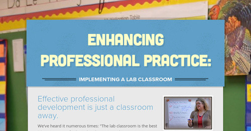 Enhancing Professional Practice: