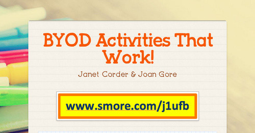 BYOD Activities That Work!