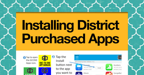 Installing District Purchased Apps