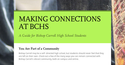 CONNECTING WITH  STUDENT SERVICES