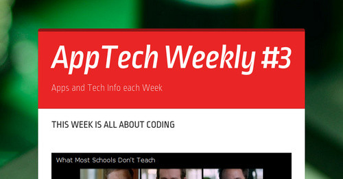 AppTech Weekly #3