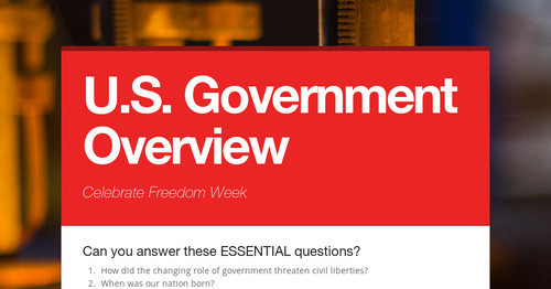 U.S. Government Overview