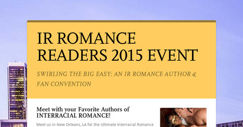 IR ROMANCE READERS 2015 EVENT
