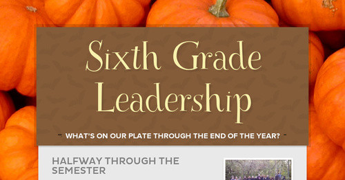 Sixth Grade Leadership