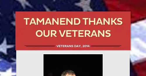 Tamanend Thanks Our Veterans
