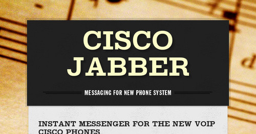 Cisco Jabber 11