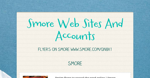 Smore Web Sites And Accounts