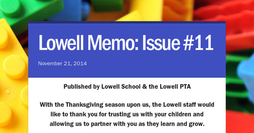 Lowell Memo: Issue #11