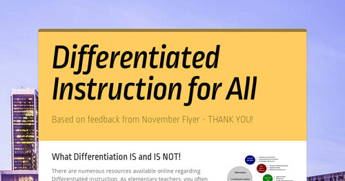 Differentiated Instruction for All