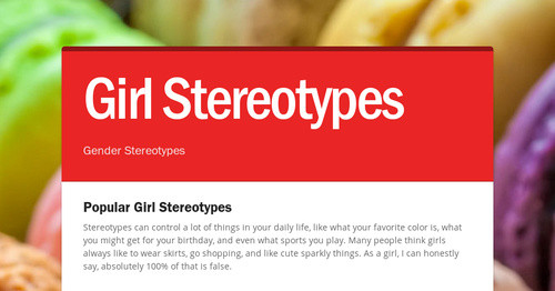Girl Stereotypes