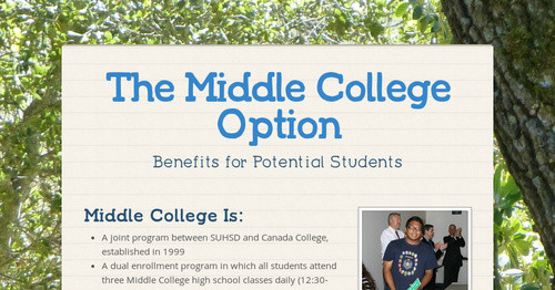 The Middle College Option