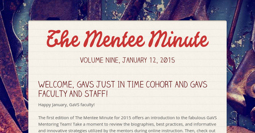 The Mentee Minute