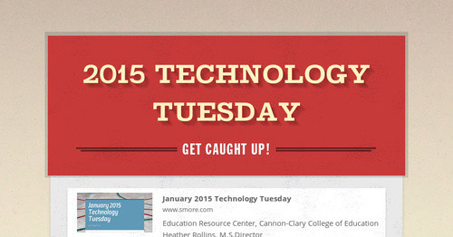2015 Technology Tuesday