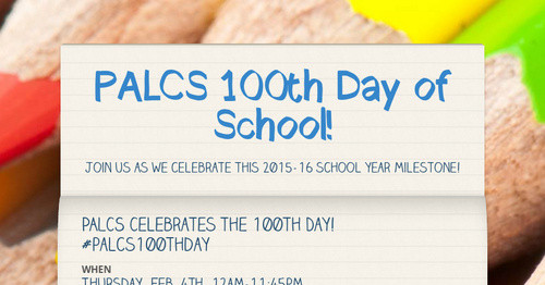 PALCS 100th Day of School!