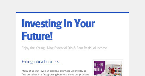 Investing In Your Future!