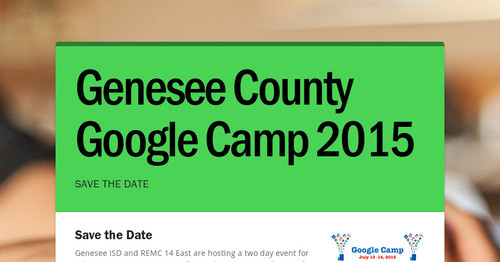 Genesee County Google Camp 2015