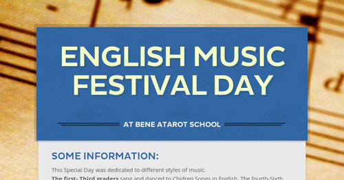 English Music Festival Day