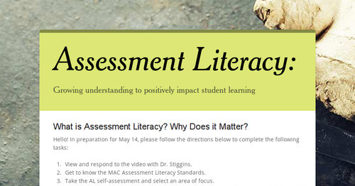 Foundations of Assessment Literacy