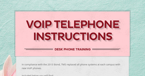 New Telephone System Installations