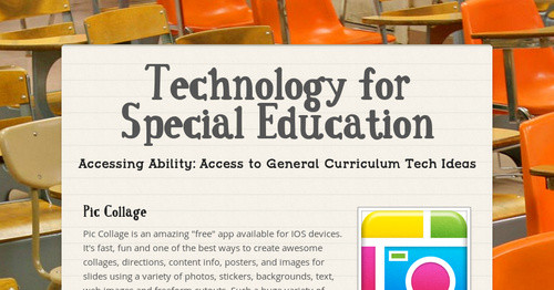Technology for Special Education