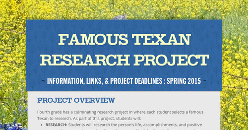 Famous Texan Research Project
