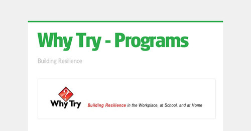 Why Try - Programs