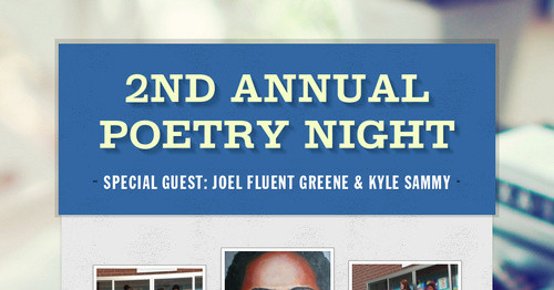 2nd Annual Poetry Night