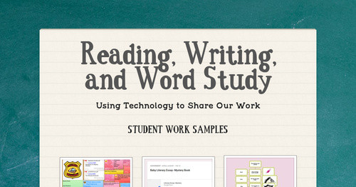 Reading, Writing, and Word Study