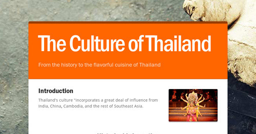 The Culture of Thailand