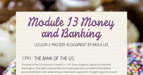 Module 13 Money and Banking