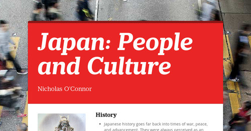 Japan: People and Culture
