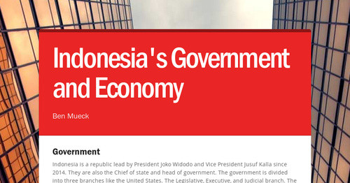 Indonesia's Government and Economy