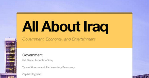 All About Iraq