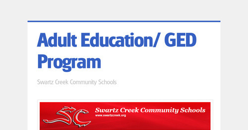 Adult Education/ GED Program
