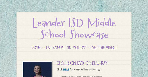 Leander ISD Middle School Showcase