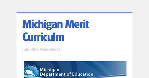 Michigan Merit Curriculm