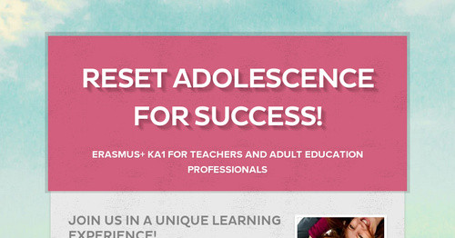Reset Adolescence for Success!