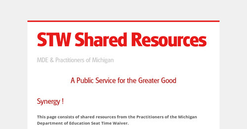 STW Shared Resources