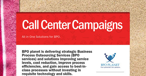 Call Center Campaigns