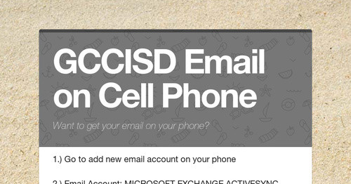 GCCISD Email on Cell Phone