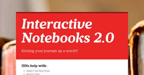 Interactive Notebooks 2.0