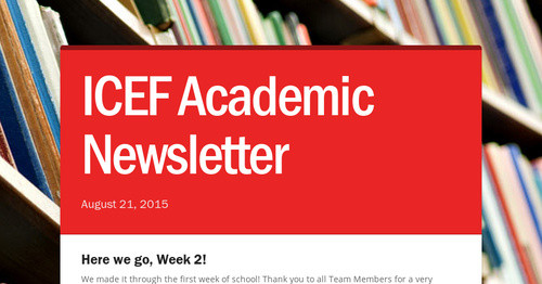 ICEF Academic Newsletter